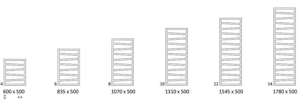 Размеры Terma Zigzag