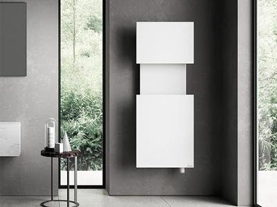 белый дизайнерский радиатор